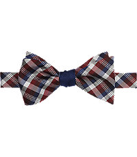 Jos. A. Bank Plaid Check Self-Tie Bow Tie