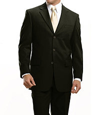 Signature 3-Button Wool Olive Suit