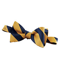 Regimental Guard Stripe Bow Tie $49.50 AT vintagedancer.com