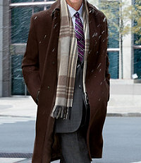 Three-Quarter Length Merino Wool Topcoat