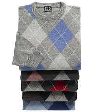 Lambswool Argyle Crewneck Sweater