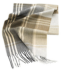 Pure Cashmere Patterned Scarves