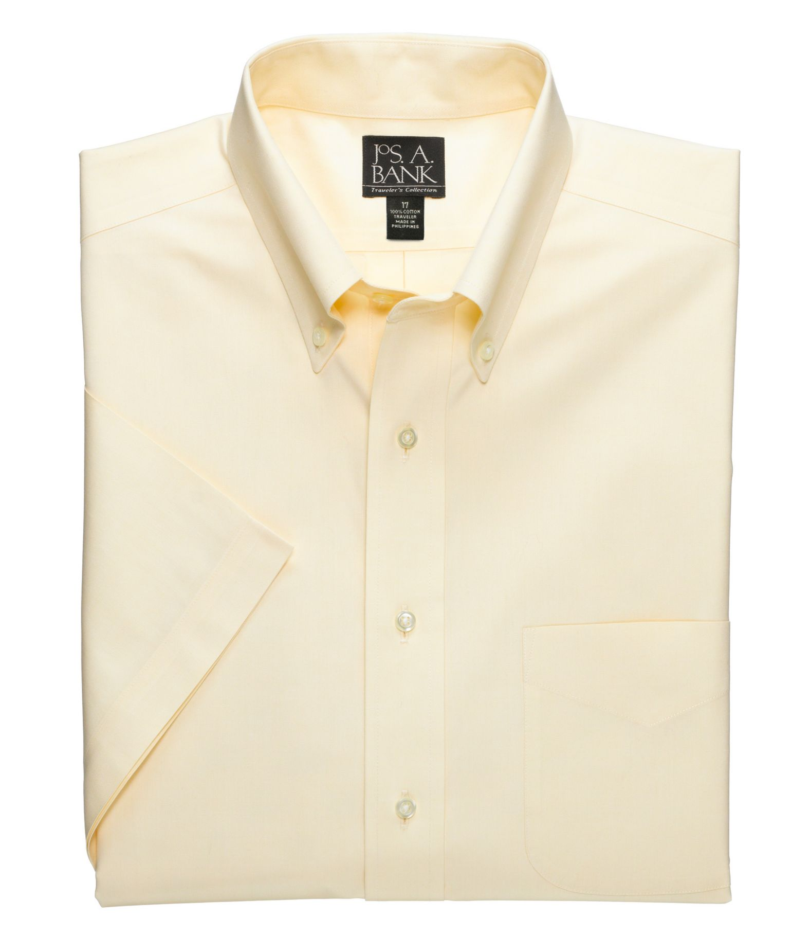 Traveler Collection Traditional Fit Button-Down Collar Short ...