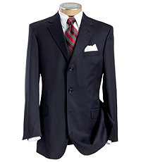Executive 3-Button Wool Suit with Center Vent Jacket and Pleated Front Trousers