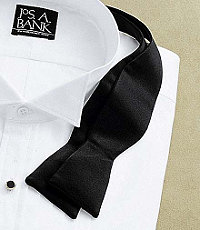 Self-Tie Black Bow Tie $59.50 AT vintagedancer.com