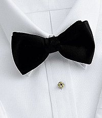 New 1930s Mens Fashion Ties Pre-Tie Black Bow Tie $59.50 AT vintagedancer.com