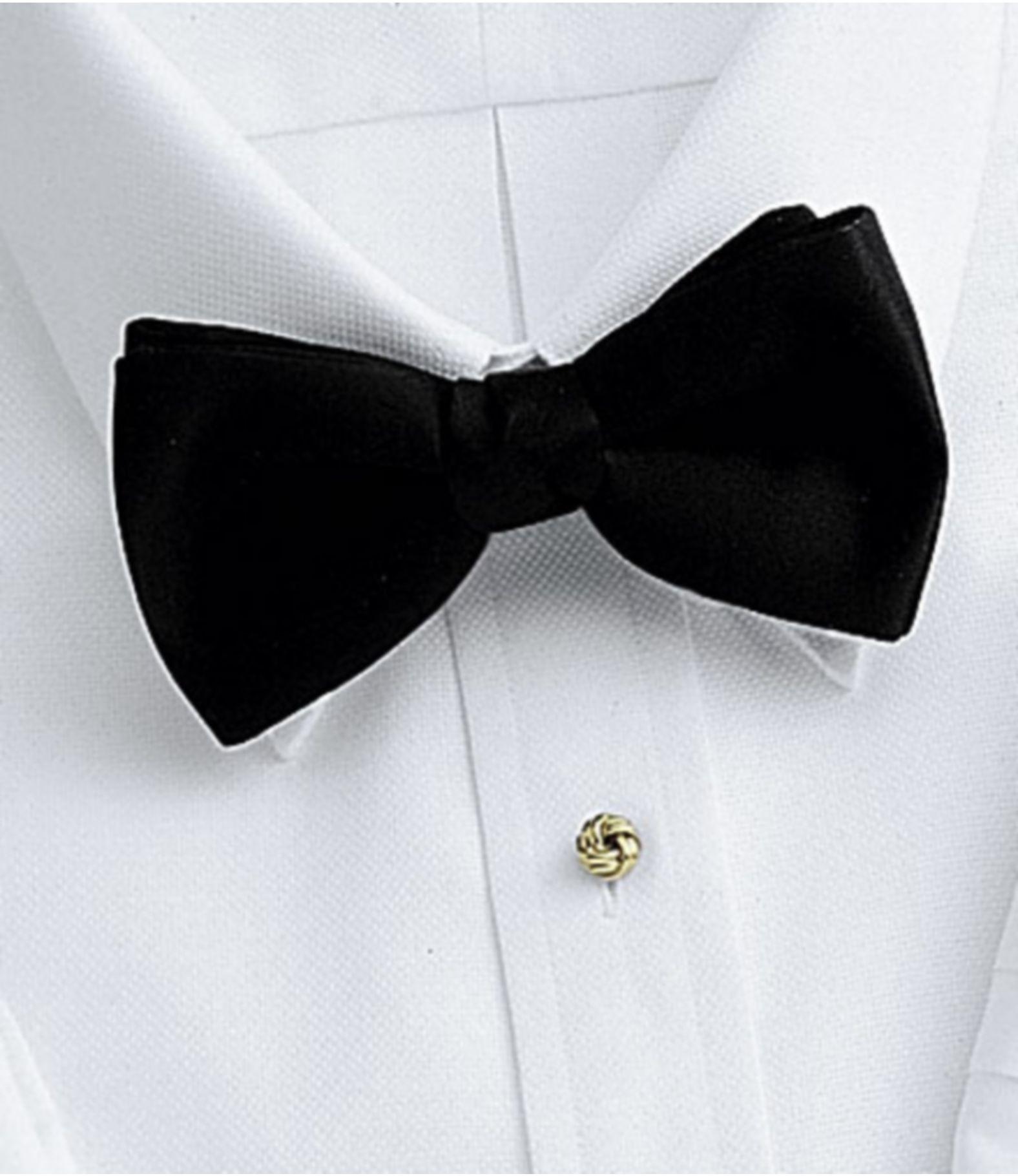 Pretie Black Bow Tie #8mrt