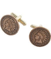 Gold-Tone Coin Cufflinks
