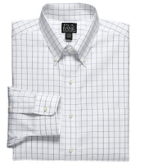 Traveler Buttondown Large Check Dress Shirt