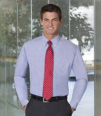 Executive Collection Pattern Buttondown Collar Dress Shirt