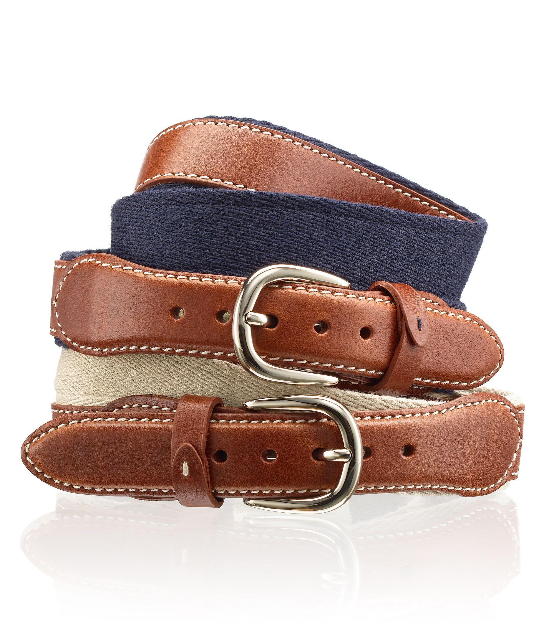Canvas-Backed Weekender Belt