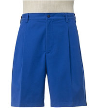 Traveler Stays Cool Cotton Shorts Pleated-Front