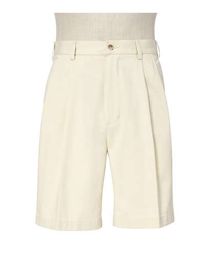 Traveler Stays Cool Cotton Shorts Pleated-Front CLEARANCE