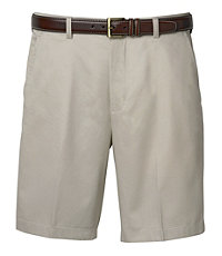 Traveler Stays Cool Cotton Shorts Plain-Front