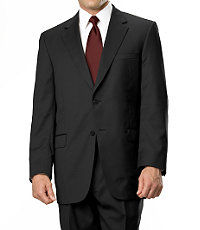 Signature Gold 2-Button Superfine Wool Suit-In 3 Patterns- Charcoal Grey, Navy Stripe