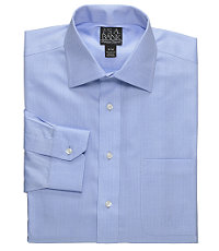 Signature Spread Collar Barrel Cuff Herringbone Dress Shirt