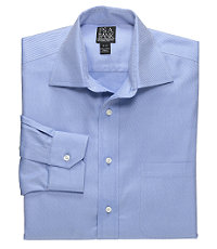 Signature Wrinkle-Free Spread Collar Barrel Cuff Dobby Twill Dress Shirt