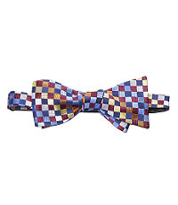 Brown/Blue Checkers Bow Tie
