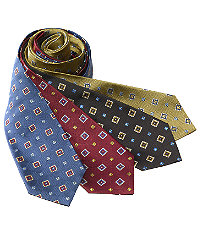 "Basic Spaced Squares 61"" Long Tie"