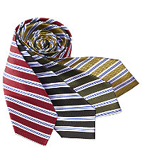 Basic Textured Satin Stripes Tie
