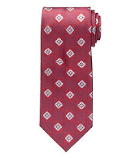 1930s Style Men's Clothing Executive Collection Diamond Check Tie - Long $54.50 AT vintagedancer.com