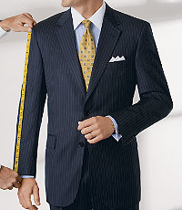 Signature Gold 2 Button Wool Suit- Navy Pinstripe