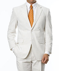 Stays Cool 2-Button Seersucker Tailored Fit Men's Suit with Plain Front Trousers CLEARANCE by JoS. A. Bank