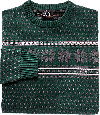 Men's Vintage Style Sweaters – 1920s to 1960s Executive Collection Cotton Crewneck Mens Sweater CLEARANCE $29.98 AT vintagedancer.com