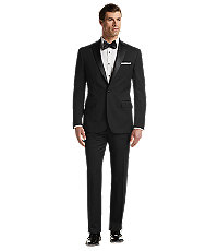 1940s Mens Clothing Traveler Collection Taditional Fit Flat Front Tuxedo Separate Pants - Big  Tall by JoS. A. Bankilored Fit Tuxedo by JoS. A. Bank $858.00 AT vintagedancer.com