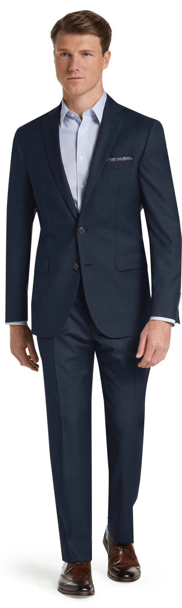 Jos. A. Bank Traveler Collection Slim Fit Sharkskin Suit