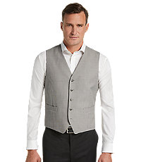 Traveler Collection Tailored Fit Tic Pattern Suit Separate Vest