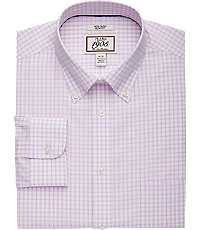 1905 Collection Slim Fit Button-Down Collar Check Dress Shirt