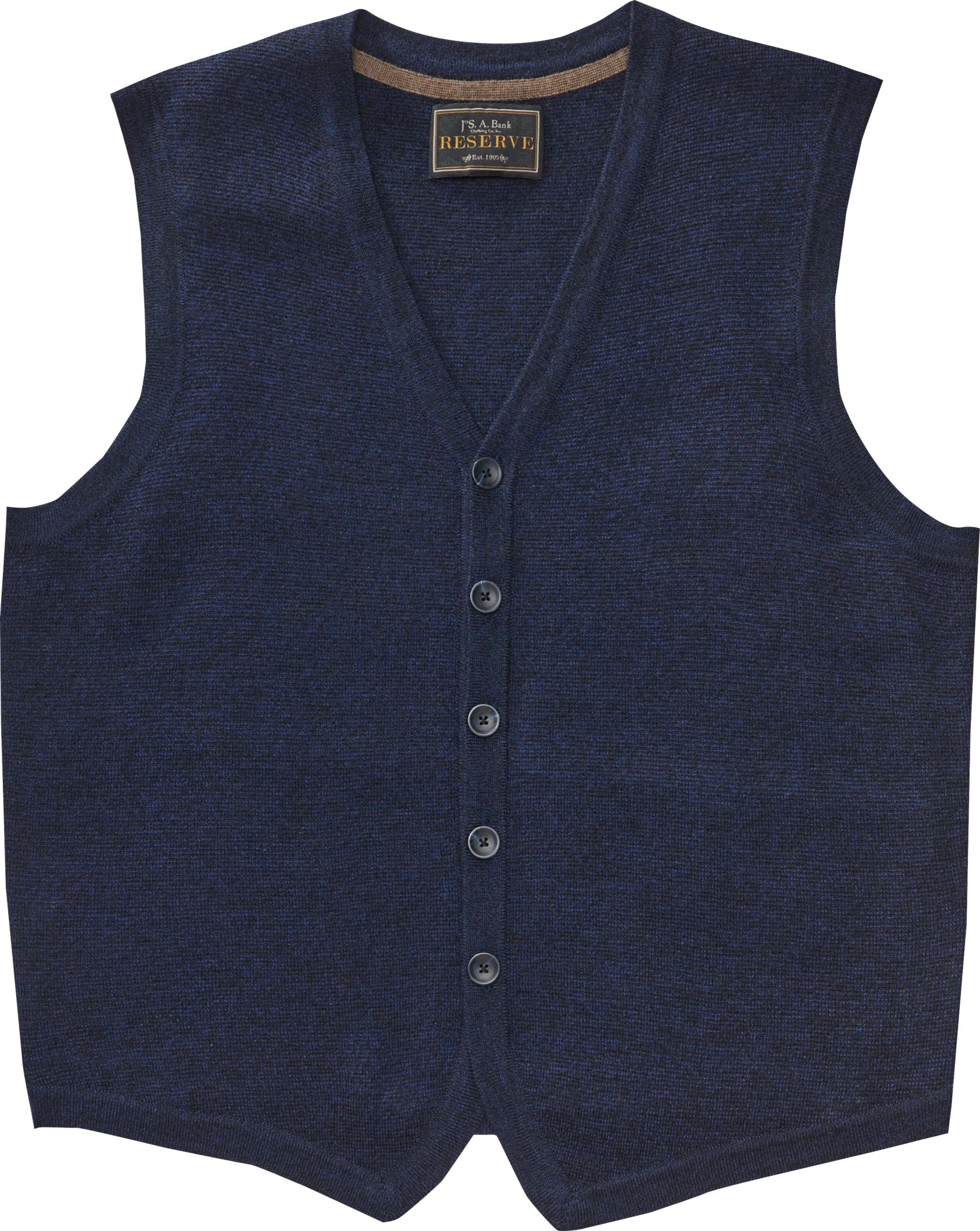 c0d573eca3d0 Reserve Collection Merino Wool Blend Button Front Sweater Vest ...