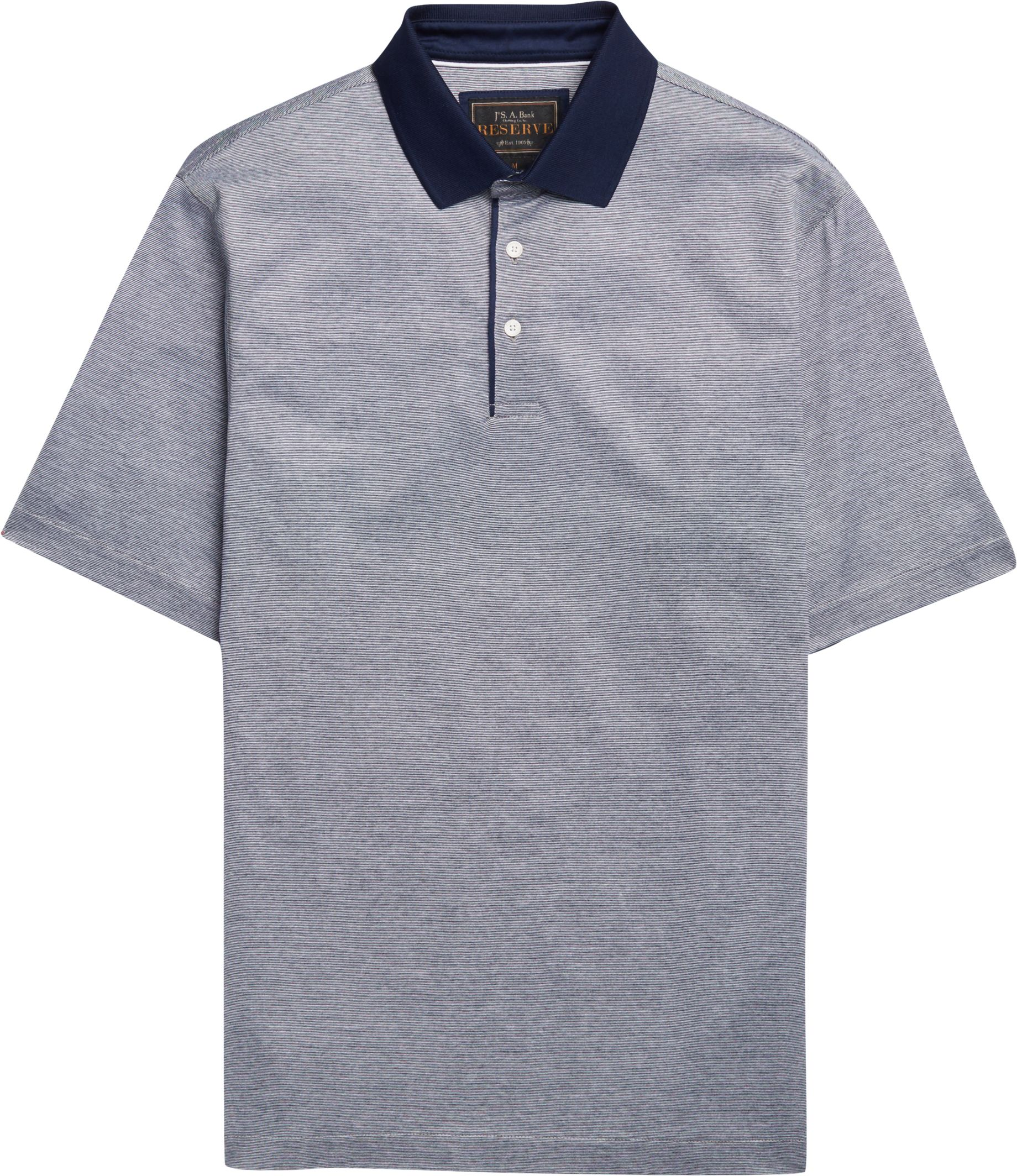 Reserve Collection Fine Stripe Traditional Fit Polo Shirt