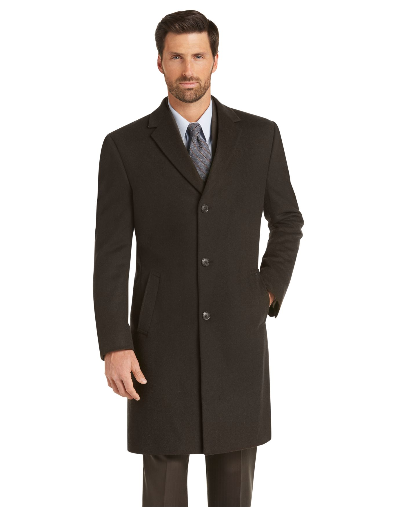 45bb00007c3 Executive Collection Tailored Fit Overcoat - Big   Tall